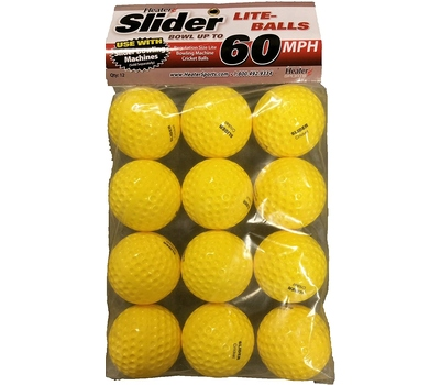 Heater Slider Bowling Machine balls 12 Pack